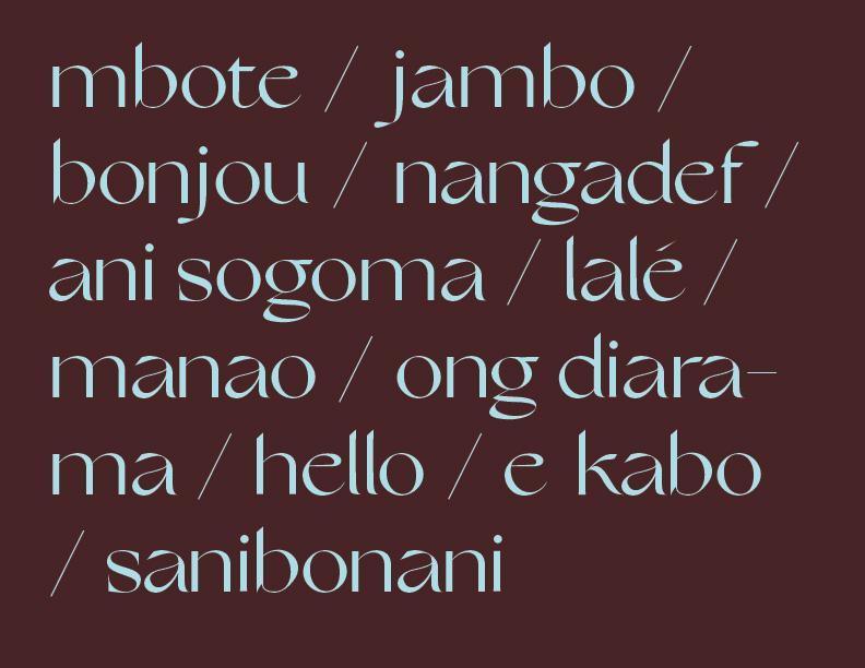 bonjour en differentes langues africaines.