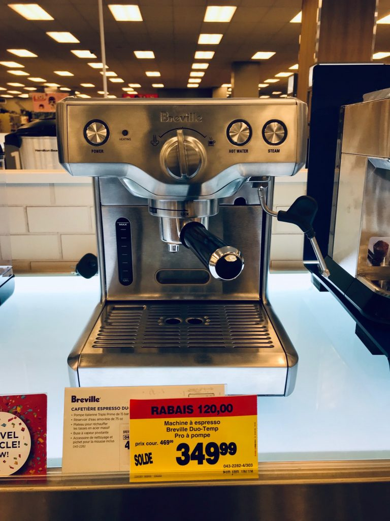 Machine a cafe de marque Breville neuve