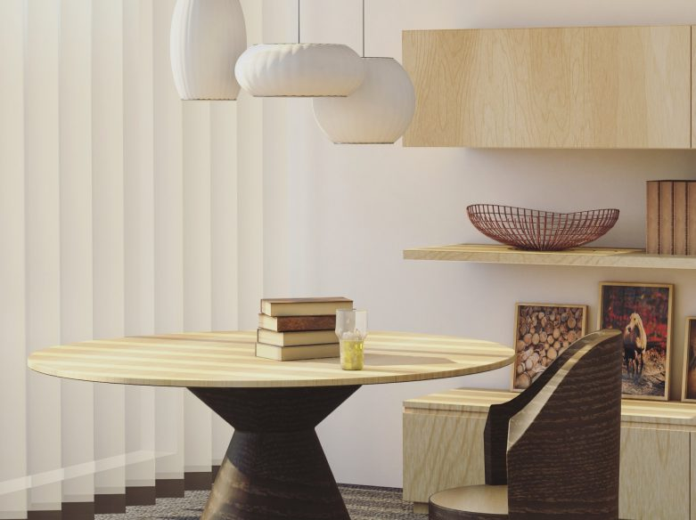 table lampes et chaise design