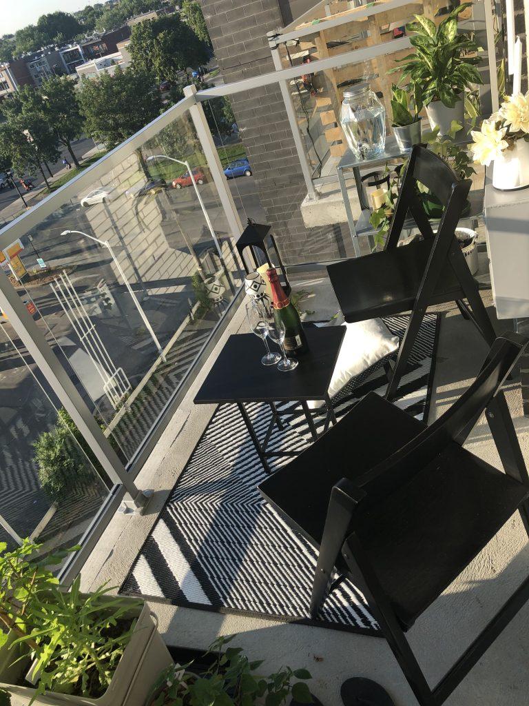 vue en plonge du balcon