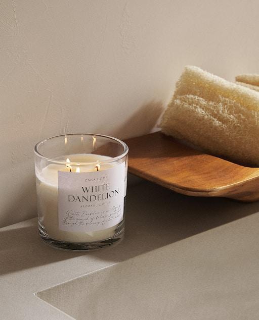 bougie white dandelion